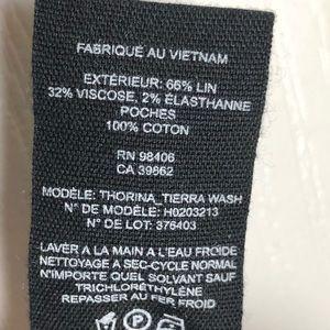 Theory Pants - Theory Linen Blend Chambray Pants Cropped Size 8